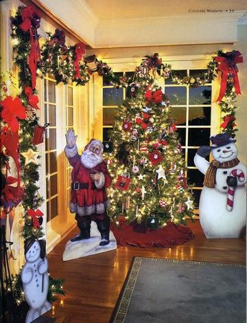 Интерьер новогоднего украшения офиса